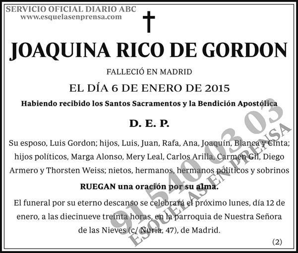 Joaquina Rico de Gordon